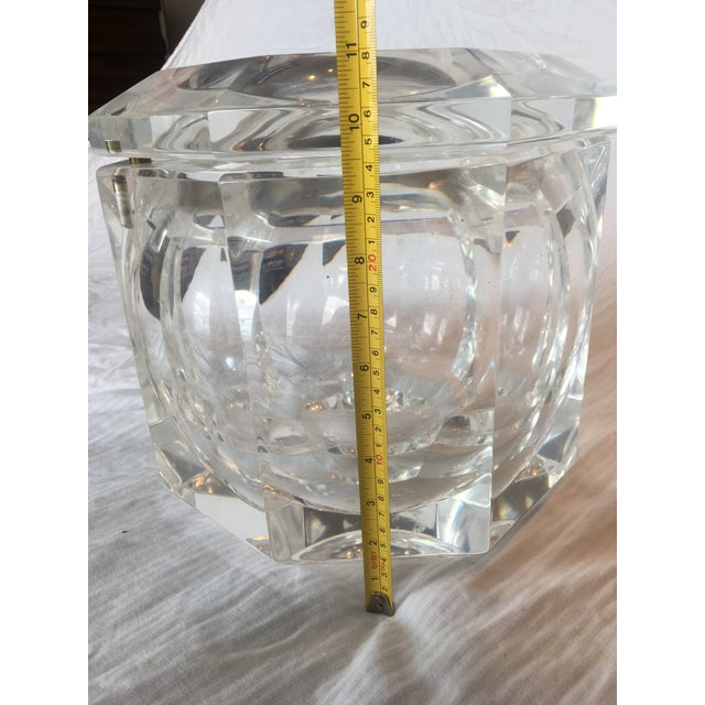 Extra Large Modern Faceted Lucite Decorative Box or Ice Bucket - Image 4 of 5