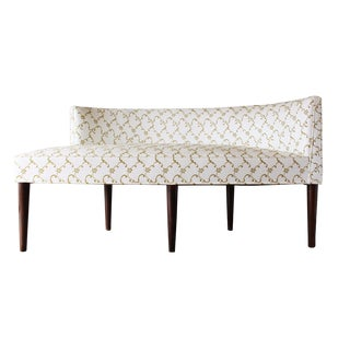 Mid-Century Modern Curved Chaise Settee Attributed to Peabody or Dunbar For Sale