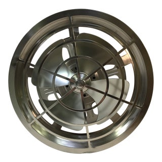 Savoy House Cage Fan in Silver Satin Nickel For Sale