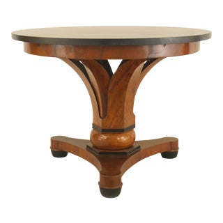 Austrian Biedermeier Mahogany and Black Marble Center Table For Sale