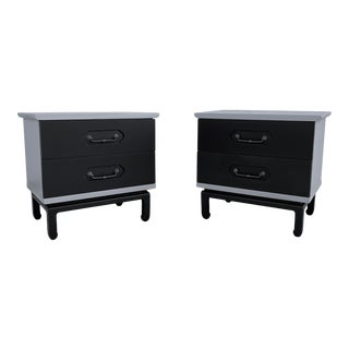 Pair Vintage Modern Nightstands by American of Martinsville For Sale