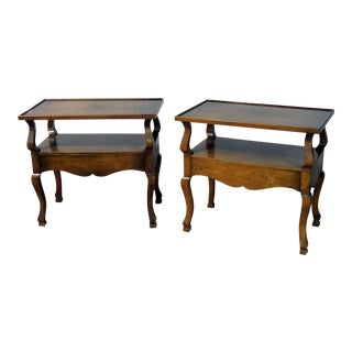 Companion Pair of Country French Style Nightstands