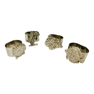 Vintage Set of Silver Napkin Rings - Set of 4 For Sale