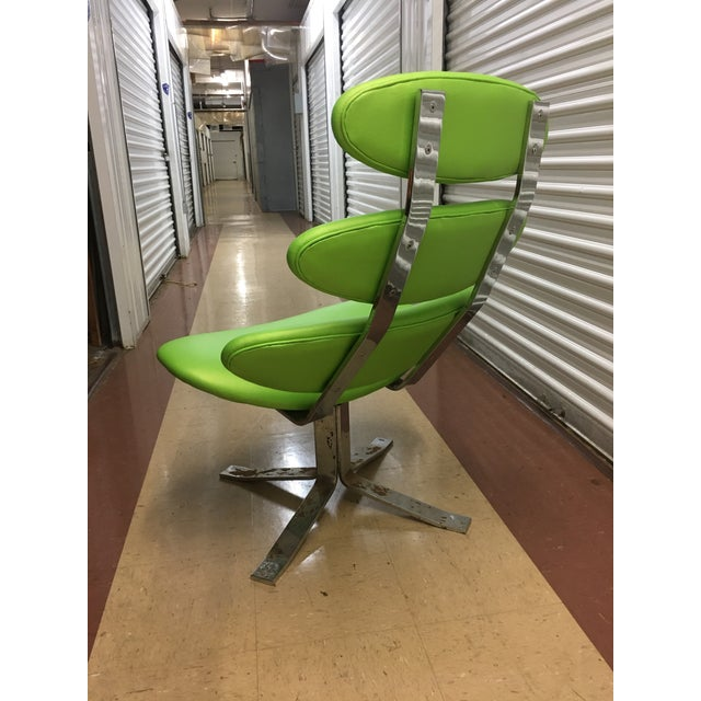 Poul Volther Poul Volther Corona Chair & Ottoman by Erik Jorgensen For Sale - Image 4 of 13