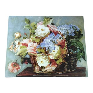 Stretched Canvas of Basket Flowers For Sale