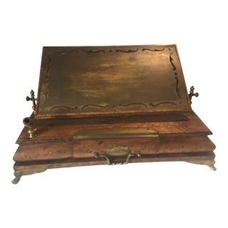 Antique Campaign Desk For Sale