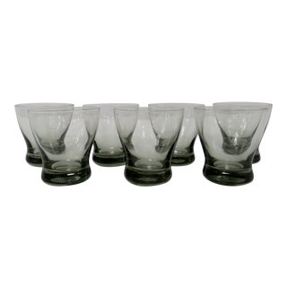 Holmegaard Smoke Glasses - Set of 7 For Sale