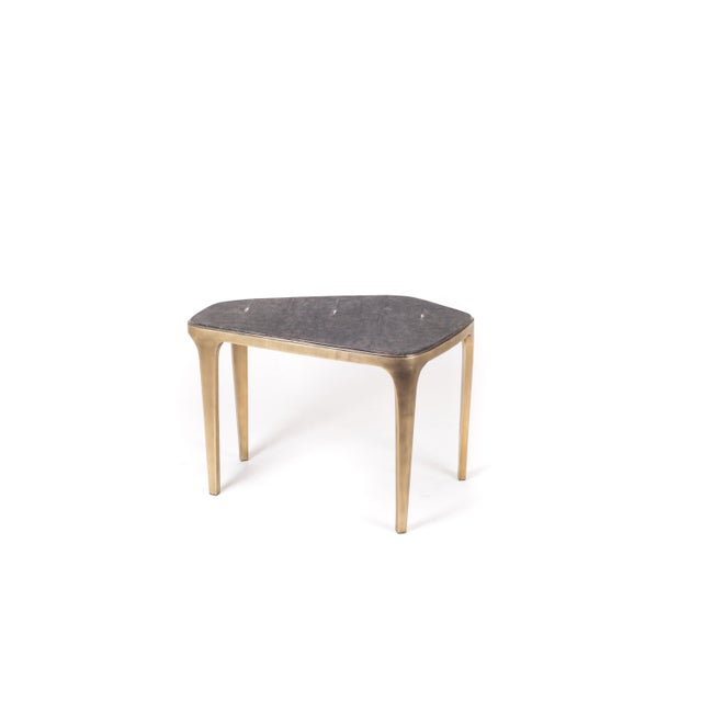 R & Y Augousti Cosmos Nesting Coffee Tables in Shagreen, Shell & Brass R&y Augousti - Set of 3 For Sale - Image 4 of 6