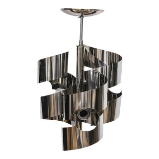 Polished Chrome Chandelier by Sciolari for Lightolier For Sale