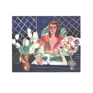Henri Matisse, Annelies, White Tulips, and Anemones, Lithograph For Sale