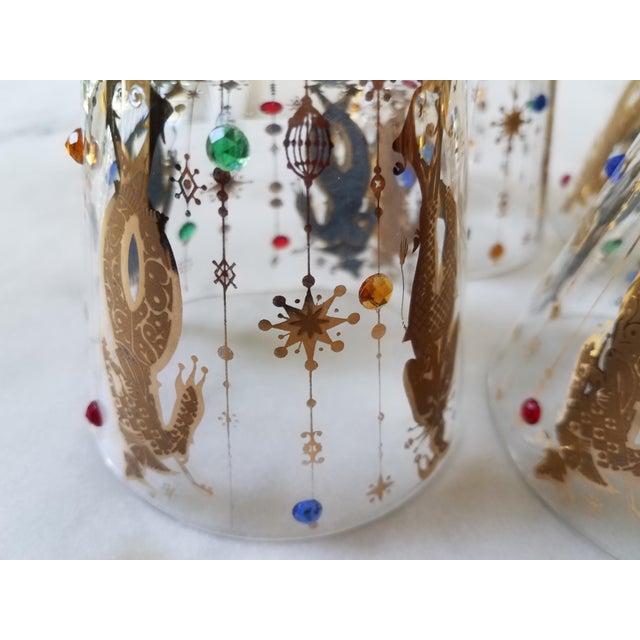Culver Mardi Gras Glasses - Set of 6 For Sale - Image 5 of 10
