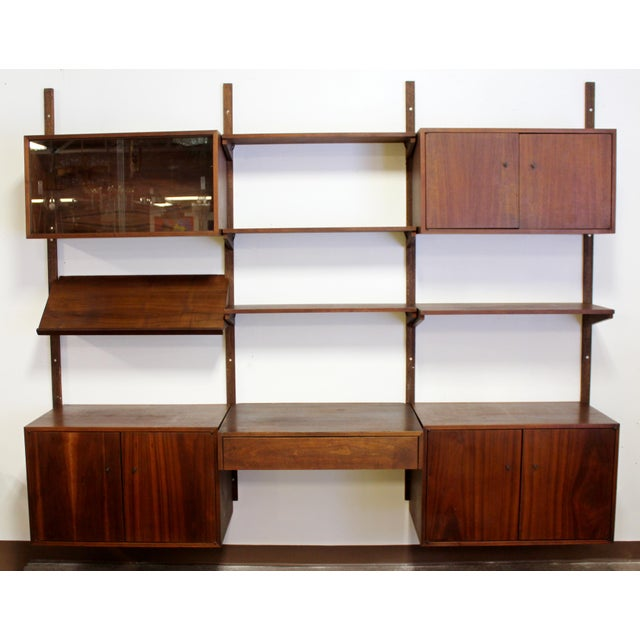 Mid-Century Modern Mid Century Modern Danish Cado Walnut Wall Unit by Poul Cadovious For Sale - Image 3 of 8
