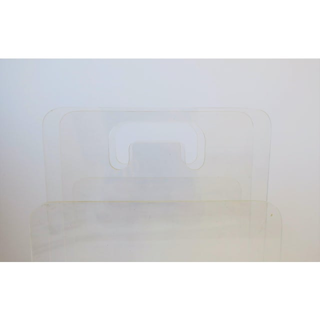 Clear Acrylic Magazine Holder, Circa 1976 For Sale - Image 12 of 13