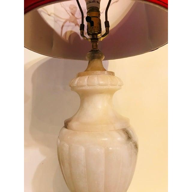Vintage Alabaster Lamp For Sale - Image 4 of 6