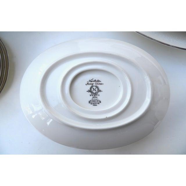 White Noritake Lorelei Fine China Set - Set of 80 For Sale - Image 8 of 12