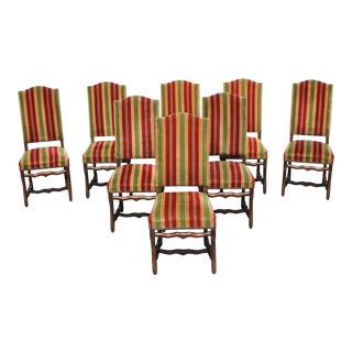 1900s French Louis XIII Style Os De Mouton Dining Chairs - Set of 8 For Sale