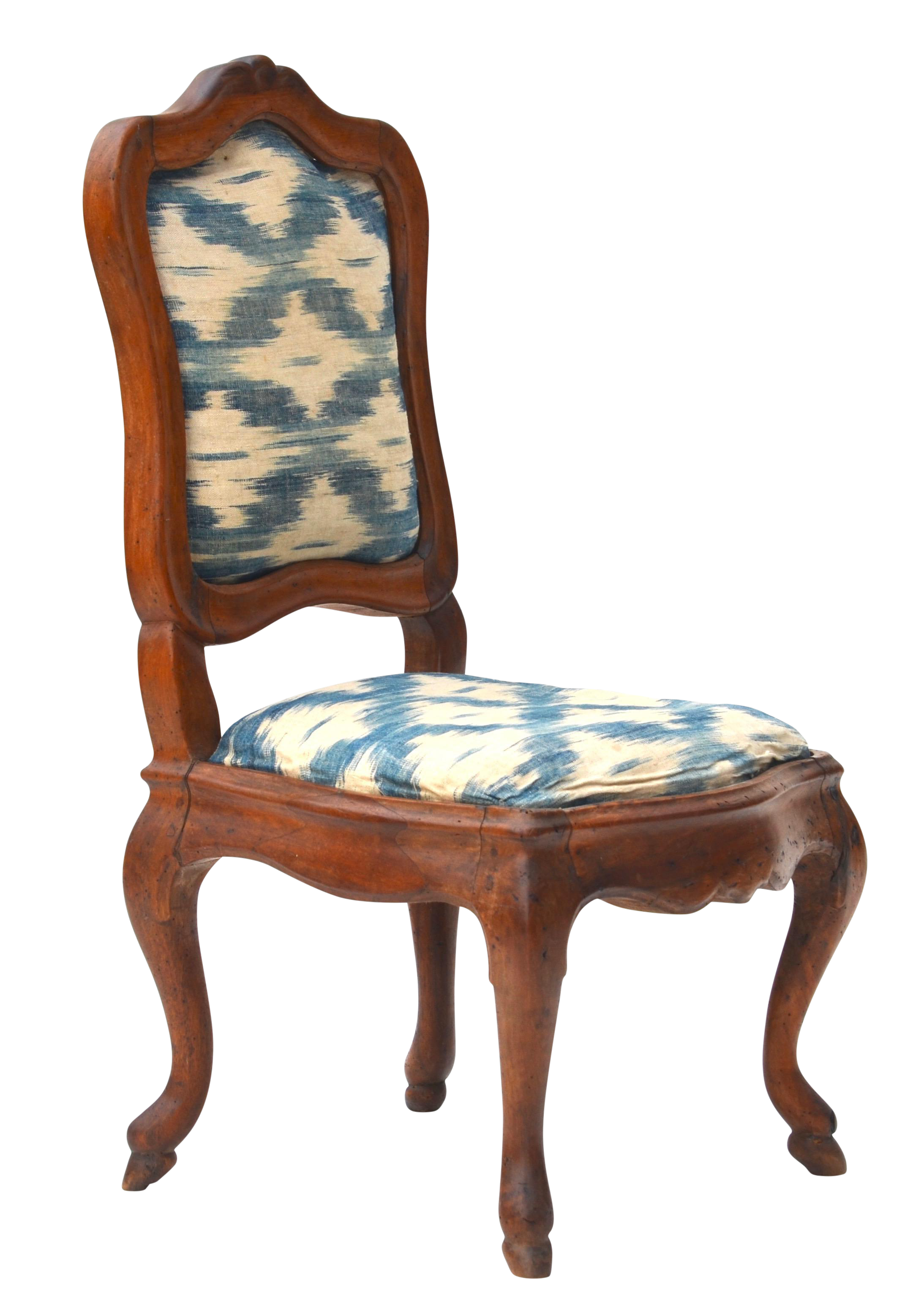 Attrayant Antique Wood Upholstered Slipper Chair