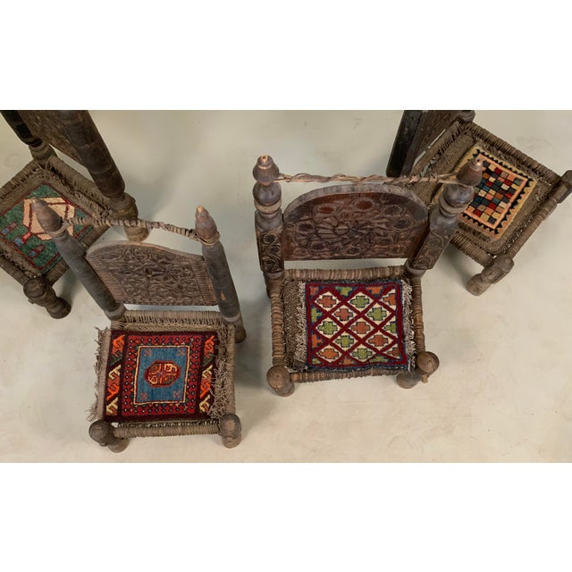 19th Century Tribal Bedouin Chairs - Set of 4 For Sale In New York - Image 6 of 12