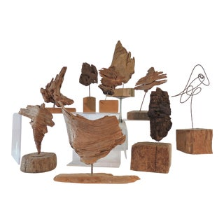 Collection of Abstract Driftwood Sculptures, Gloucester, Ma, Circa 1960s-1970s - Set of 9 For Sale