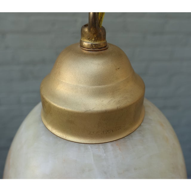 Alabaster Pendant Light Fixtures - 3 - Image 6 of 7