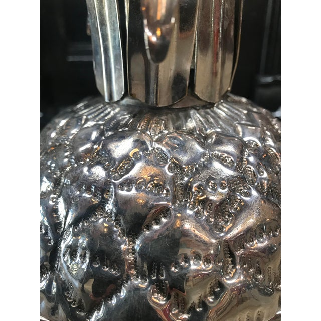 Silver Plated Pineapple Ice Bucket Made in Florence, Italy by Teghini For Sale - Image 9 of 13