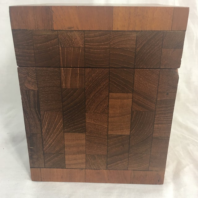 Dunhill Vintage British Crown Colony Teak Humidor Box For Sale - Image 5 of 8