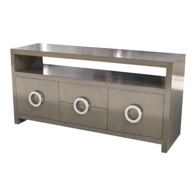 Custom Grey Wash Console - Image 1 of 9