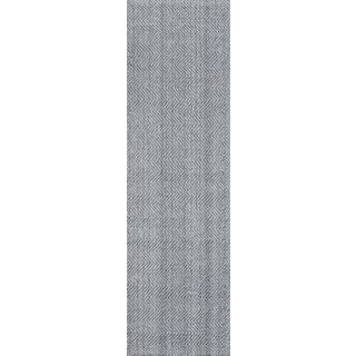 "Erin Gates by Momeni Ledgebrook Washington Grey Runner Hand Woven Area Rug - 2'3"" X 8' For Sale"