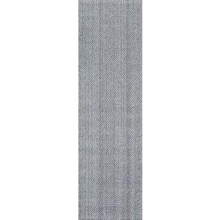 "Erin Gates by Momeni Ledgebrook Washington Grey Runner Hand Woven Area Rug - 2'3"" X 8'"