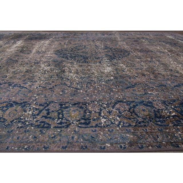 Vintage Overdyed Rug For Sale - Image 4 of 6