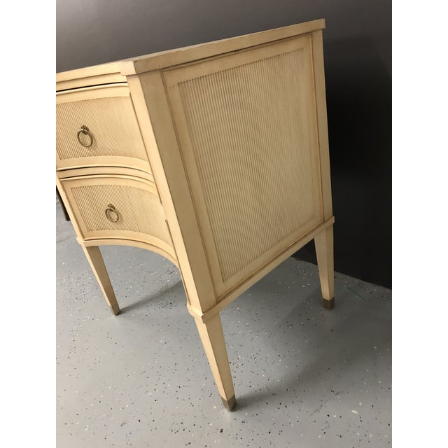 Traditional Modern History Gustavian 2 Drawer Nightstand For Sale - Image 3 of 10