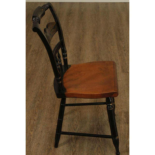 Hitchcock Eagle Painted Black & Maple Side Chair For Sale In Philadelphia - Image 6 of 13