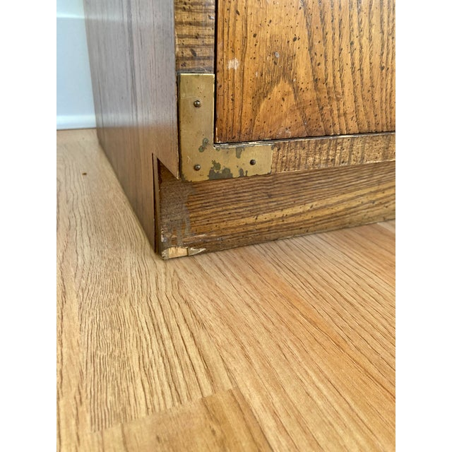 Late 20th Century Dixie Campaign 3 Drawer Dresser For Sale - Image 11 of 13