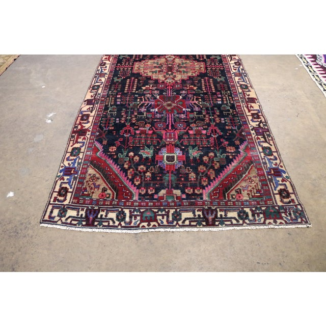 """Midnight in the Garden Persian Rug - 4'7"""" x 10'8"""" - Image 7 of 7"""