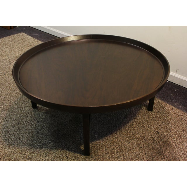 Mid-Century Modern Baker Round Flared Coffee Table - Image 2 of 11