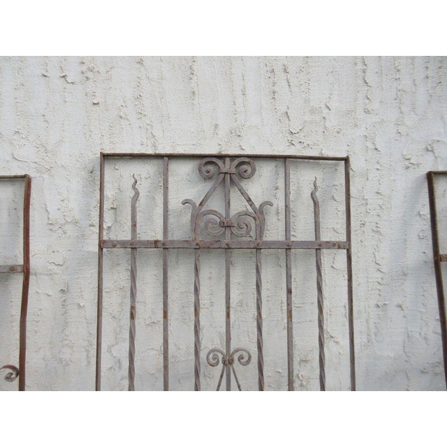 Antique Victorian Iron Gate Architectural Salvage - Image 4 of 7