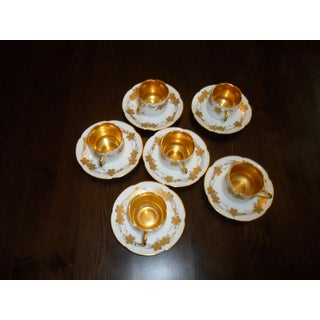 Vintage Oac Okura Porcelain China Demitasse Cups & Saucers - Set of 12 Preview