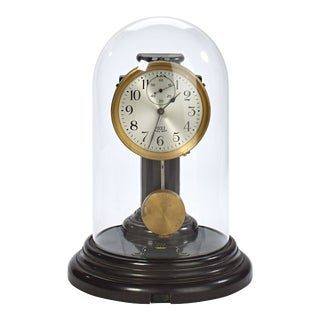 Poole Executive Model Bakelite Brass and Glass Battery Operated Mantel Clock For Sale