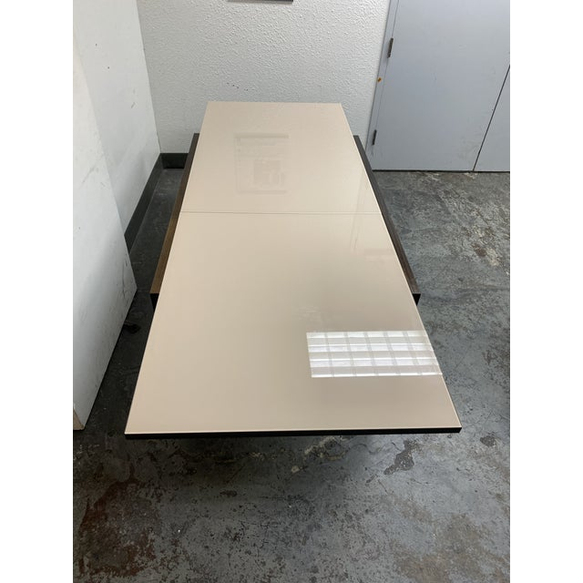 Glass Calligaris Extendable Dining Table + Six Chairs Set For Sale - Image 7 of 13