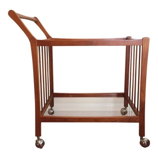 Mid-Century Danish Modern Teak Portable Bar Cart