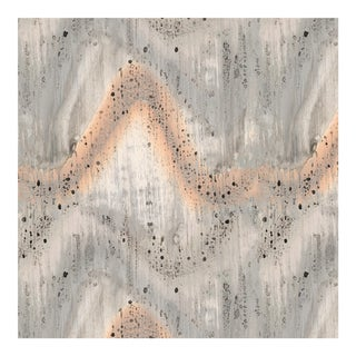 Transitional Patina Pattern Large Wallpaper For Sale