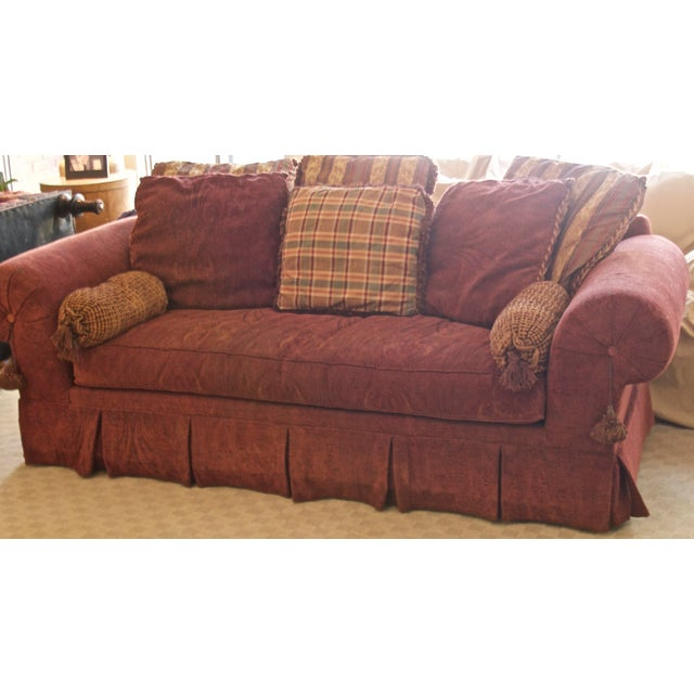 Fine Lane Raymond Waites Custom Bolster Sofa Caraccident5 Cool Chair Designs And Ideas Caraccident5Info