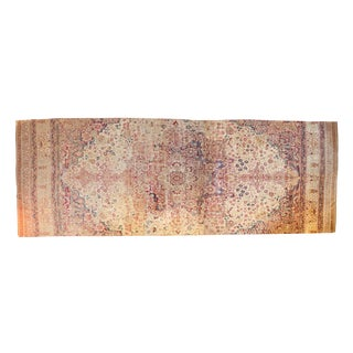 "Antique Fragment Kermanshah Carpet - 9'4"" X 25'8"" For Sale"