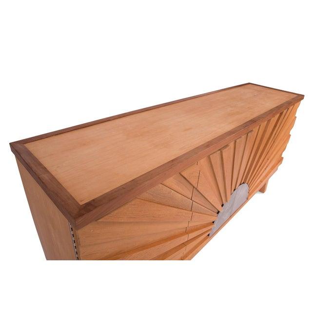 R. Mapache Signed Sunburst Teak Sideboard For Sale - Image 4 of 8