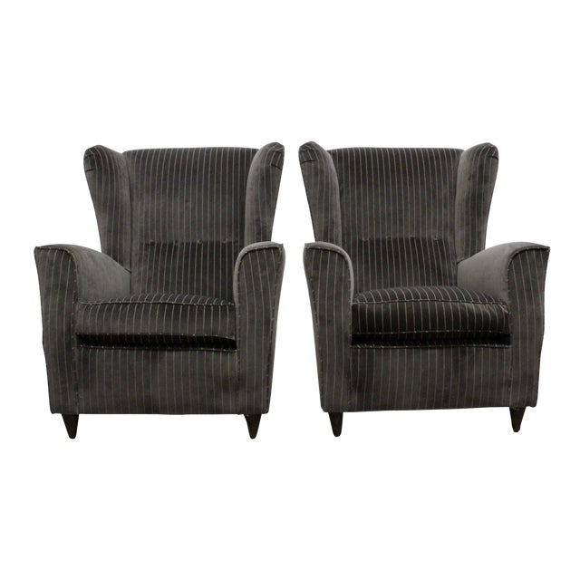 Pair of Armchairs by Paolo Buffa, Italy, 1950s For Sale