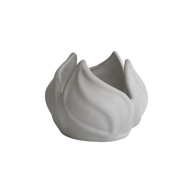 Van Briggle White Ceramic Vessel For Sale