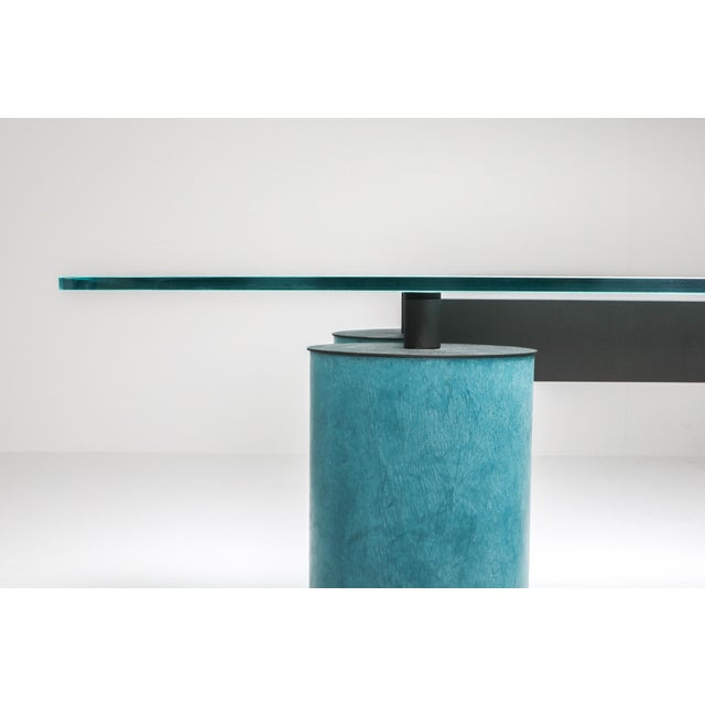 Blue 1970s Massimo Vignelli 'Serenissimo' Dining Table/Desk for Acerbis For Sale - Image 8 of 13