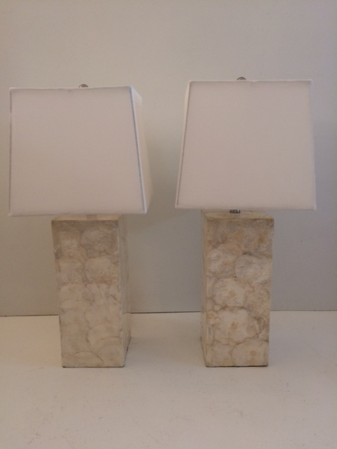 Mother Of Pearl Table Lamps A Pair Chairish