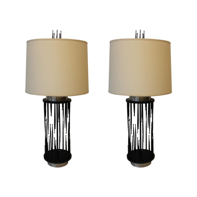 1960's Italian Stalagmite/Stalactite Table Lamps - A Pair For Sale