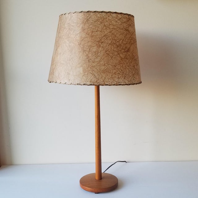 Mid-Century Modern Swedish Teak Table Lamp by George Kovacs For Sale - Image 9 of 9